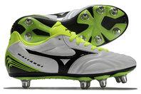 Mizuno Waitangi Primeskin SG Rugby Boots White/Black/Yellow