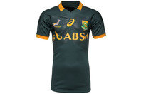 South Africa Springboks 2014/15 Players Athletic Test S/S Rugby Shirt Bottle Green