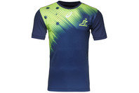 Australia Wallabies 2015/16 Players S/S Rugby Training T-Shirt Indigo Blue