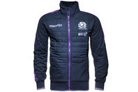 Scotland 2015/16 Players Padded Rugby Anthem Jacket Navy/Purple