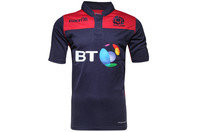 Scotland 2015/16 Rugby Training S/S Shirt Navy/Red