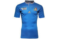 Italy RWC 2015 Home S/S Rugby Shirt Bright Blue