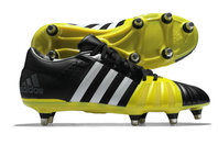adidas FF80 Pro 2.0 XTRX SG Rugby Boots Core Black/White/Bright Yellow