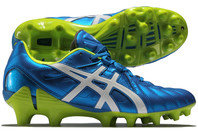 Asics Gel Lethal Tigreor 8 SK FG Rugby Boots Electric Blue/White/Flash Yellow