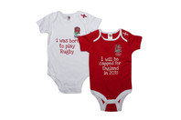 England Rugby England RFU 2015/16 Infant Bodysuits 2 Pack
