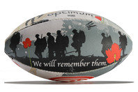 Optimum Remembrance Day Midi Rugby Training Ball