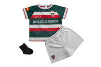 Kooga Leicester Tigers 2016/17 Home Infants Replica Rugby Kit