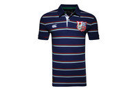 British & Irish Lions 1888 Stripe Pique Rugby Polo Shirt