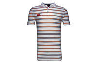 Canterbury CCC Off Field Striped Rugby Polo Shirt