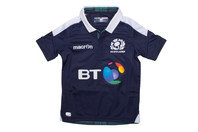 Macron Scotland 2016/17 Home Kids S/S Replica Rugby Shirt