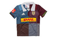 adidas Harlequins 2016/17 Home Kids S/S Replica Rugby Shirt