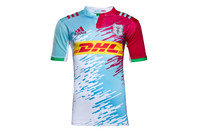 adidas Harlequins 2016/17 Kids Alternate S/S Replica Rugby Shirt