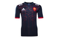 adidas France 2016/17 Kids Home S/S Replica Rugby Shirt