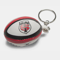 Toulouse Mini Rugby Ball Keyring