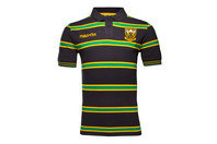 Macron Northampton Saints 2016/17 Cotton Stripe Rugby Polo Shirt