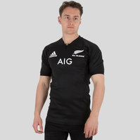 adidas New Zealand All Blacks 2017/18 Home S/S Test Rugby Shirt