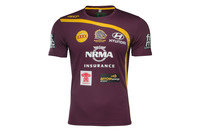 ISC Brisbane Broncos NRL 2017 Players Rugby Training T-Shirt