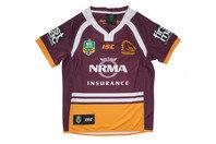 ISC Brisbane Broncos NRL 2017 Kids Home S/S Rugby Shirt