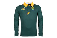 Asics South Africa Springboks 2017/18 L/S Supporters Home Rugby Shirt