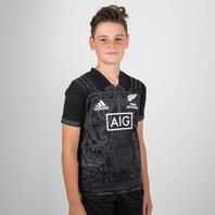 adidas New Zealand Maori All Blacks 2017 Kids S/S Rugby Shirt