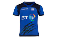 Macron Scotland 2017/18 Kids S/S Rugby Training Shirt