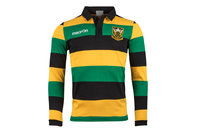 Macron Northampton Saints 2017/18 Supporters L/S Cotton Rugby Shirt