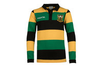 Macron Northampton Saints 2017/18 Kids Supporters L/S Cotton Rugby Shirt