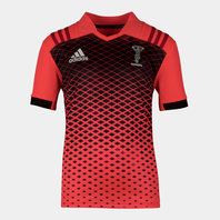 adidas Harlequins 2017/18 Kids S/S Rugby Training Shirt