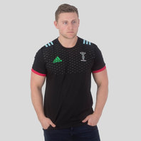 adidas Harlequins 2017/18 Cotton Rugby T-Shirt