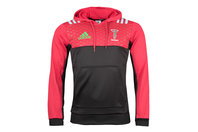 adidas Harlequins 2017/18 Players Performance Hooded Rugby Sweat