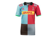 adidas Harlequins 2017/18 Kids Home S/S Replica Rugby Shirt