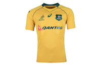 Asics Australia Wallabies 2017/18 Home Players Test Rugby Shirt