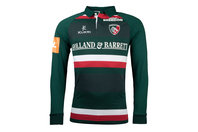 Kukri Leicester Tigers 2017/18 Home L/S Classic Rugby Shirt