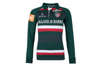 Kukri Leicester Tigers 2017/18 Ladies Home L/S Classic Rugby Shirt
