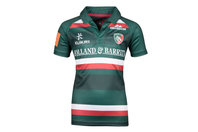 Kukri Leicester Tigers 2017/18 Kids Home S/S Replica Rugby Shirt