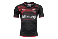 BLK Saracens 2017/18 Home Players Match S/S Replica Rugby Shirt