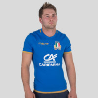Macron Italy 2017/18 Home Test S/S Rugby Shirt