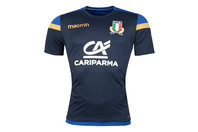 Macron Italy 2017/18 Players Gym Rugby Training T-Shirt