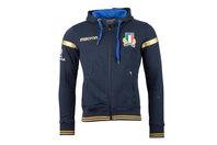 Macron Italy 2017/18 Players Heavy Cotton Hooded Rugby Sweat