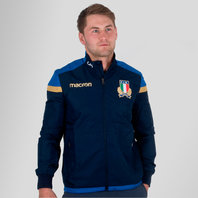 Macron Italy 2017/18 Players Travel Full Zip Rugby Jacket