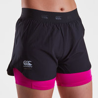 Canterbury Vapodri 2 in 1 Ladies Training Shorts
