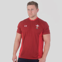 Under Armour Wales WRU 2017/19 Players Rugby Training T-Shirt