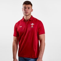 Under Armour Wales WRU 2017/19 Players Rugby Polo Shirt