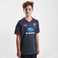 Under Armour Wales WRU 2017/18 Kids Alternate S/S Replica Rugby Shirt