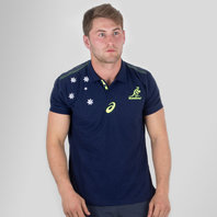 Asics Australia Wallabies 2017/18 Performance Rugby Polo Shirt