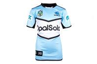 X Blades Cronulla Sharks NRL 2018 Kids Home S/S Replica Rugby Shirt