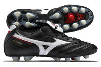 Mizuno Morelia Moulded FG Football Boots Black / White