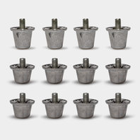 Aluminum Studs - Pack of 12