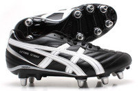 Asics Lethal Scrum SG Rugby Boots Black / Silver / White