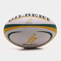Australia Wallabies Official Replica Rugby Ball White/Green/Gold